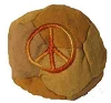 Peace Patchwork Hemp Hacky Sack