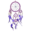 Pink & Purple Feather Dreamcatcher