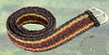 Rasta Striped Hemp Belt