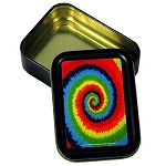 Rainbow Spiral Tie Dye Stash Tin Box