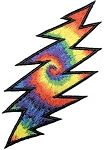 Tie Dye Lightning Bolt Patch