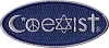 Coexist Embroidered Iron On Patch