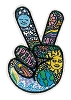 Peace Fingers Embroidered Patch by Dan Morris