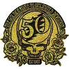 Grateful Dead -50th Anniversary Gold Patch