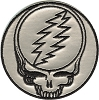 Grateful Dead - Silver Steal Your Face Patch