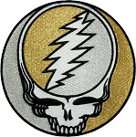 Grateful Dead - Silver / Gold Steal Your Face Patch