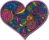 Psychedelic Heart Patch