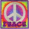 Psychedelic Peace Embroidered Patch