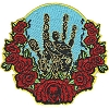 Jerry Garcia - Hand & Roses Iron On Patch