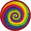 Tie Dye Swirl Embroidered Patch