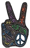 Psychedelic Two Peace Fingers Patch