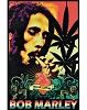 Bob Marley - Smoking One Love Blacklight Poster