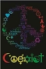 Coexist Blacklight Poster
