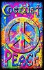 Coexist Peace Black Light Poster