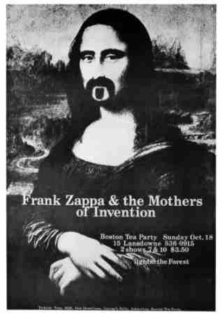 Frank Zappa Mona Lisa Poster Sunshine Daydream Hippie Shop