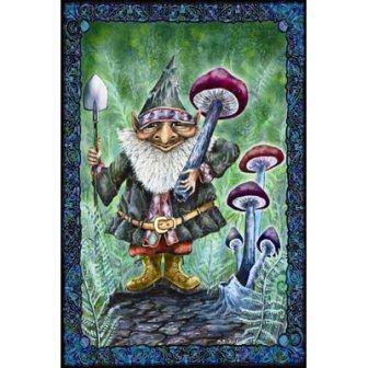 Gnome Mushroom Poster