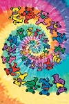 Grateful Dead - Dancing Bears Spiral Poster