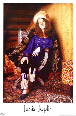 Janis Joplin Color Poster
