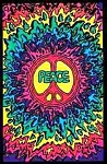 Psychedelic Peace Blacklight Poster