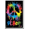 Splatter Peace Blacklight Poster