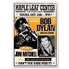 Bob Dylan - Maple Leaf Center Boxing Style Concert Poster