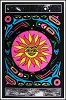 Tribal Sun Blacklight Poster