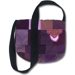 Grateful Dead Bear Head Patchwork Messenger Bag