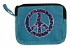 Sequin Peace Sign Coin Pouch