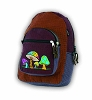 Basket Weave Embroidered Mushroom Backpack
