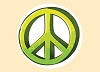 3D Peace Sticker