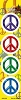 4 Pack of Peace Stickers