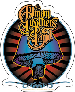 Allman Brothers Band Mushroom Sticker From