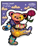 Grateful Dead - Dancing Bear with Rose Sticker