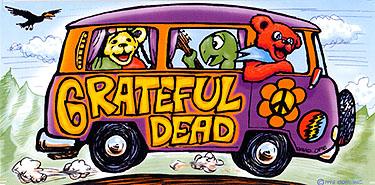 Grateful Dead Tour Bus Sticker