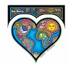 Cosmic Love Heart Sticker