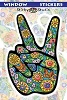 Flower Peace Hand Sticker