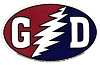 Grateful Dead - GD Lightning Bolt Euro Oval Sticker