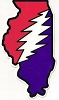 Grateful Dead - Illinois Bolt Bumper Sticker