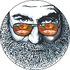 Jerry Garcia - Palm Sunday Sticker