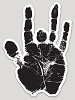 Jerry Garcia - Hand Print Die Cut Sticker