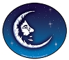 Jerry Garcia - Jerry Moon Sticker