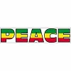 Rasta Colored Peace Word Decal Sticker