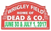 Grateful Dead - Dead & Co. 2017 Wrigley Field Sticker