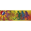 Grateful Dead - Dancing Skeletons Glitter Sticker