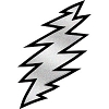 Grateful Dead - Glitter Lightning Bolt Sticker