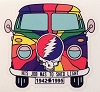 Grateful Dead - He's Gone VW Bus Sticker