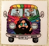 Grateful Dead - Jerry Garcia VW Bus Sticker
