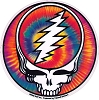 Grateful Dead - Tie Dye Steal Your Face Sticker