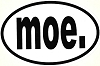 moe. - Euro Oval White Sticker