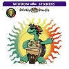 One Love Rasta Turtle Jamming Sticker